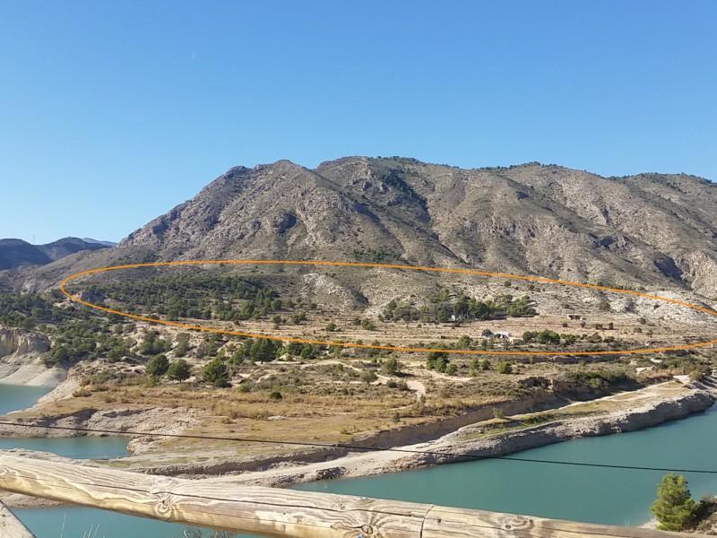 Sight on land from Mirador del Río Amadorio